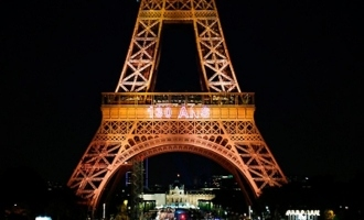 Eiffel Tower's 130th birthday celebrated