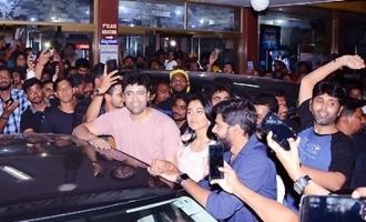 'Evaru' Team Theaters Visit in Hyderabad