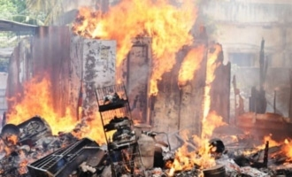 Fire accident in Hyderabad after LPG cylinder blast