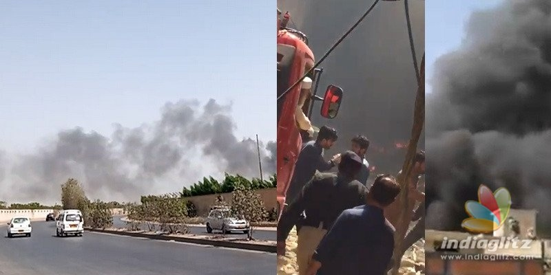 Plane crashes in Karachi; more than 90 on board
