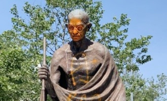 US says sorry to India after protestors deface Gandhi's statue