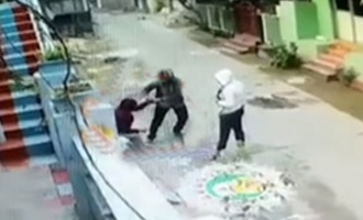 CCTV captures Bapatla woman escaping kidnapping