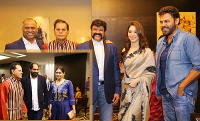 TSR Felicitates Balakrishna and Krish on Gautamiputra Satakarni Success