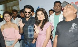 'Hello Guru Prema Kosame' Team At Vizag
