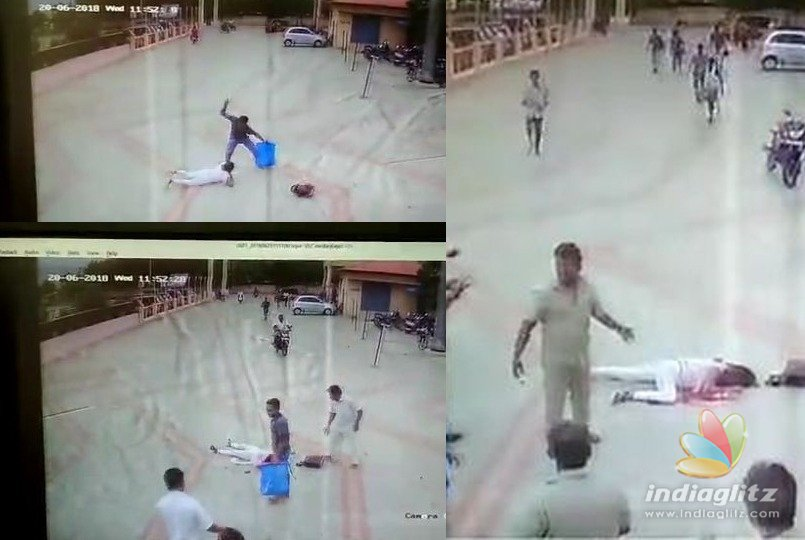 Husband hammers wife in public place