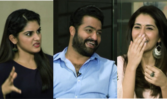 NTR Rashi Khanna and Nivetha Thomas hilarious Interview