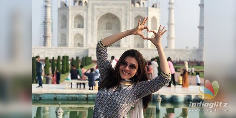 Kajal Aggarwal is spellbound by the Taj