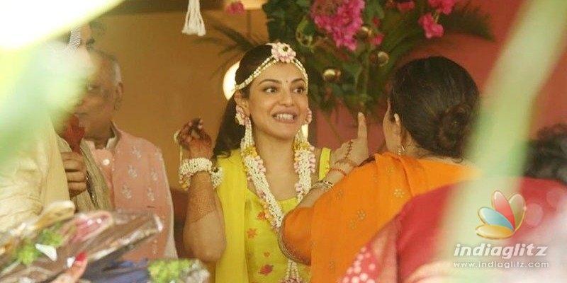 Pic Talk: Kajal Aggarwal looks oh-so-cute in haldi function