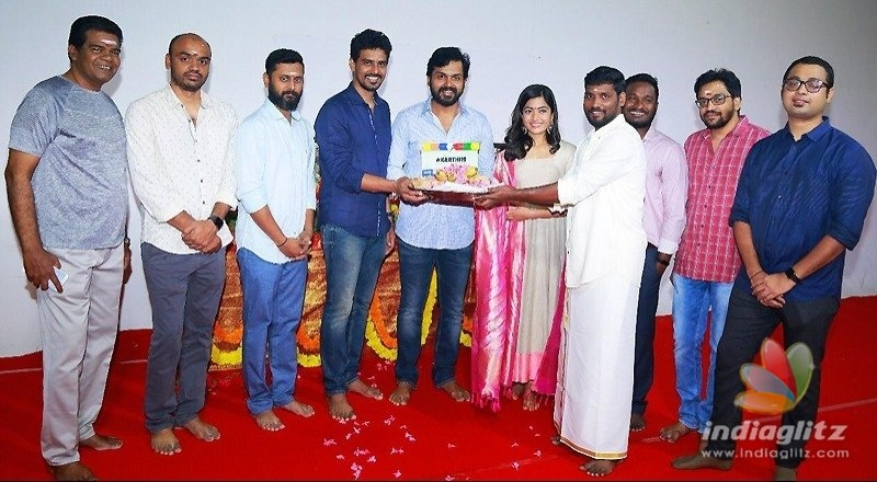 Rashmikas movie with Karthi formally launched