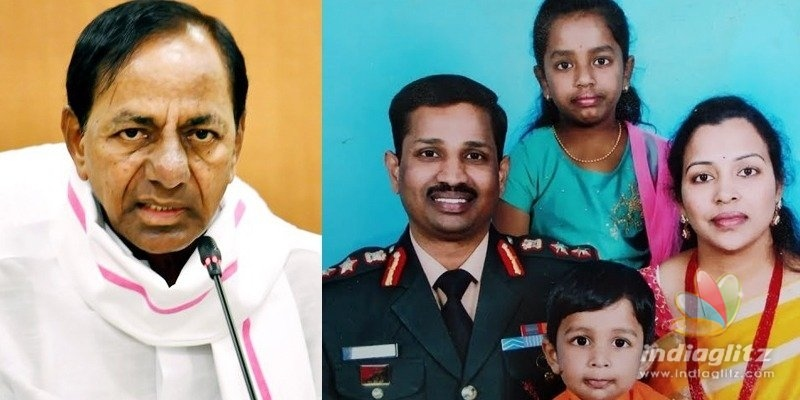 KCR announces Rs 5 Cr ex-gratia to Col Santosh Babus family
