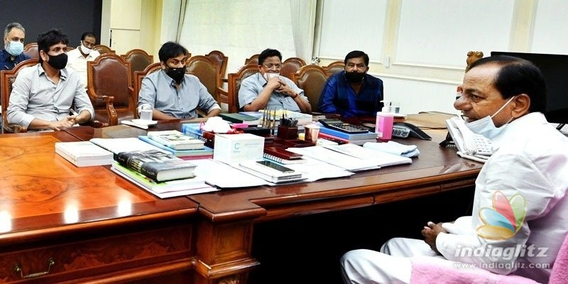 KCR assures support to industry in the presence of Chiranjeevi, Nagarjuna