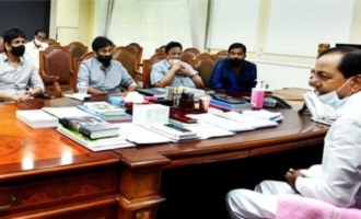 KCR assures support to industry in the presence of Chiranjeevi Nagarjuna