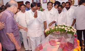 KCR and Other Political Leaders Pay Last Respects to Vijaya Nirmala
