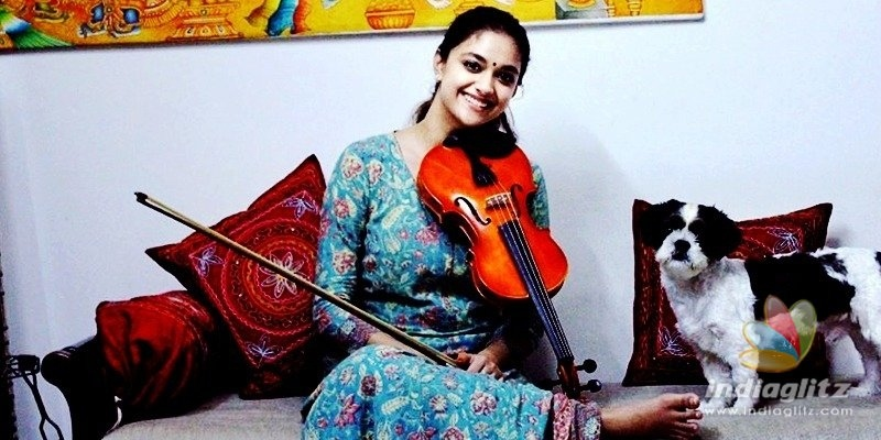 Keerthy Suresh pays a musical tribute on superstars birthday