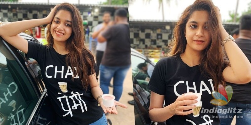Keerthy Suresh promotes Miss India wearing a chai t-shirt