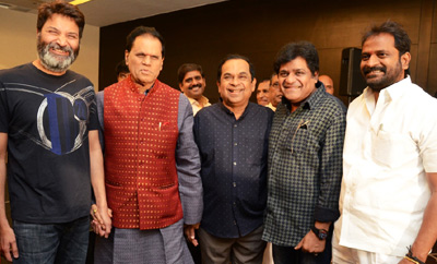 Hasya Nata Brahma Title Presentation To Brahmanandam Press Meet