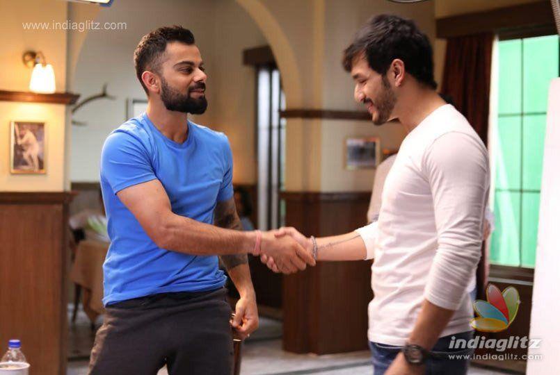 Virat Kohli spotted with popular Telugu actor