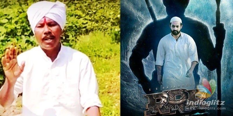 Komaram Bheems grandson opposes RRR poster of Jr NTR
