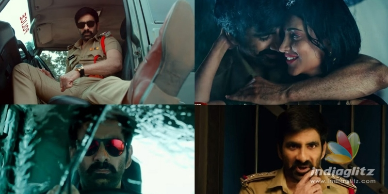 Krack Trailer: Ravi Tejas punchline-happy cop looks cool