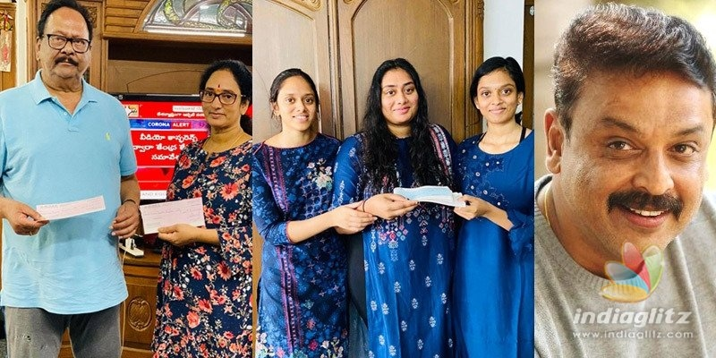 Krishnam Rajus family, Naresh donate Rs 10 lakh each
