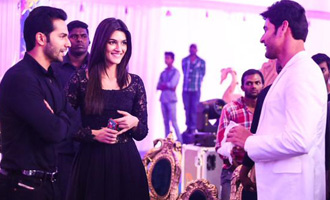 Photo feature : Kriti Sanon and Varun Dhawan with Mahesh Babu