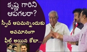 Kota Srinivasa Rao feels insulted when asked to stop speech