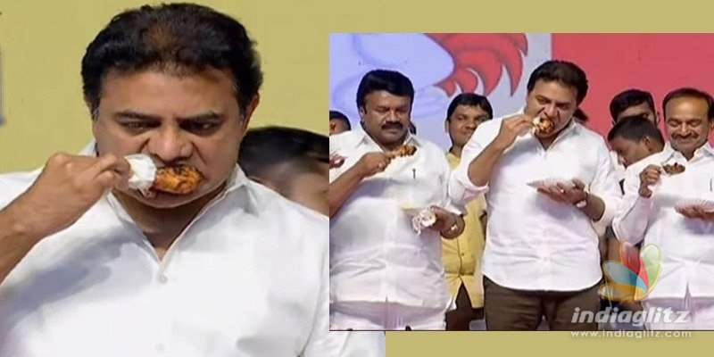 KTR, two other Ministers eat chicken to counter Corona myths