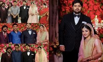 Celebs @ Simbu's Brother TR Kuralarasan Wedding Reception