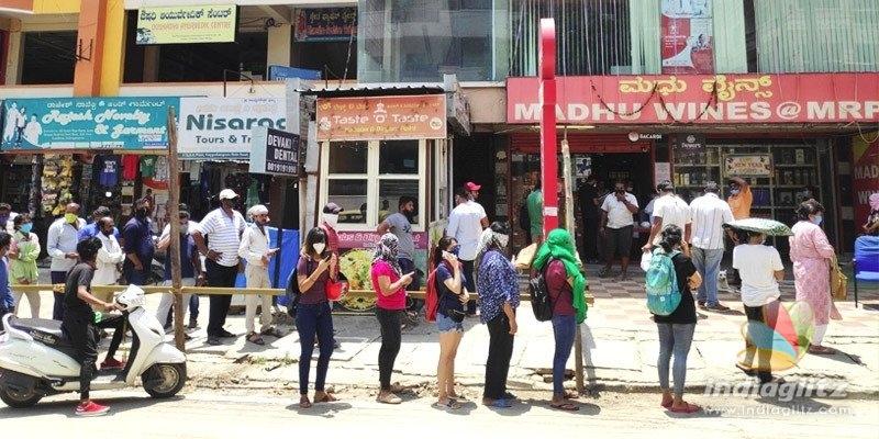 Viral Pic: Women in queue at wine shop in Bengaluru