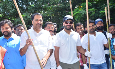 Mahanubhavudu Team Particpates Swachh Bharat at Srinagar Colony