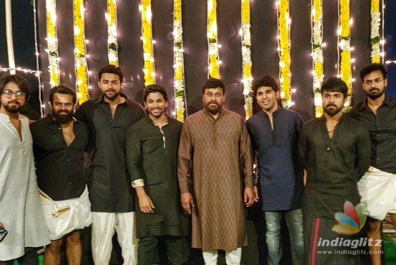Diwali Special Mega Boys Pose With The Mega Boss Hollywood News Indiaglitz Com