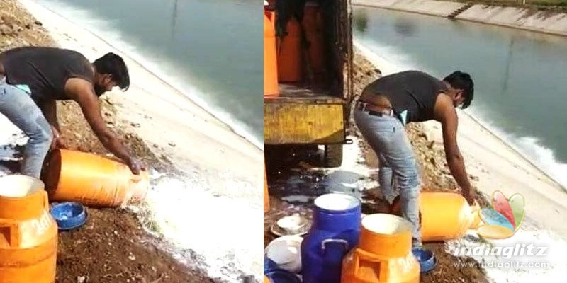 COVID-19 Effect: 1,500 litres of milk thrown into canal!