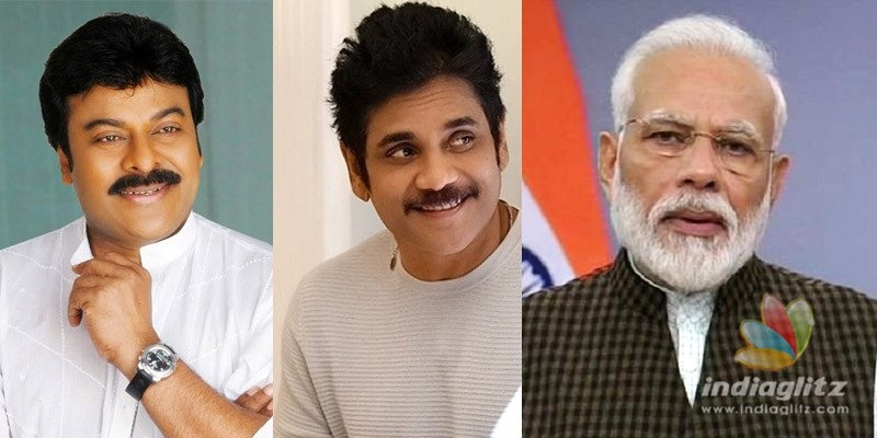 PM Modi all praises for Chiranjeevi and Nagarjuna