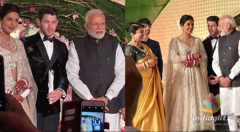 Modi attends reception of Bollywood actress