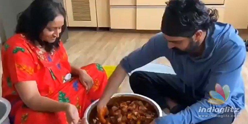 Naga Shaurya uses Janata Curfew to learn avakai-making!