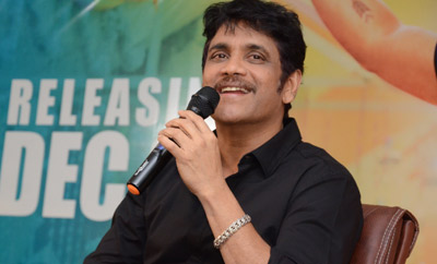 Nagarjuna @ 'Hello' Press Meet