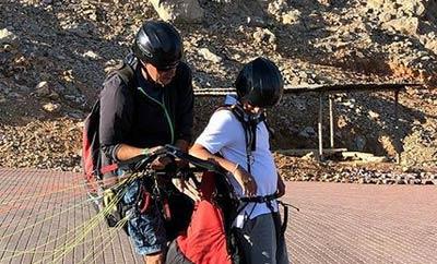 Gautam paraglides, Namrata enjoys the bliss