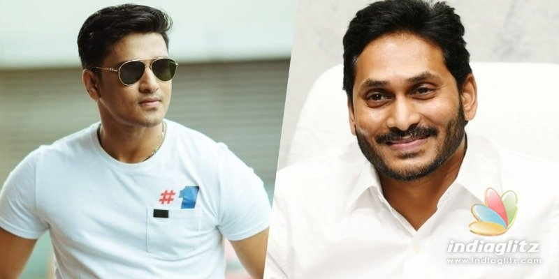 Nikhil Siddhartha agrees with YS Jagan