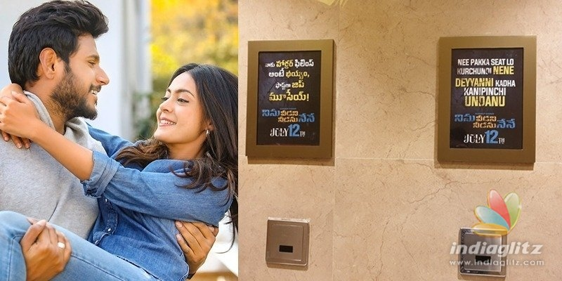 Ninu Veedani Needanu Nene: Unique promotions in washrooms!