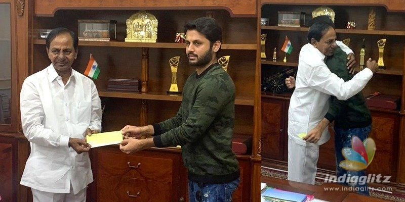 Nithiin calls on KCR to donate money