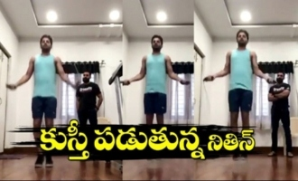 Actor Nithin Doing 500 Jump Ropes 3.25 Minutes