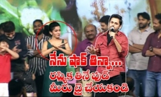 Nithin Hilarious Fun With Rashmika Mandanna About Her Eating