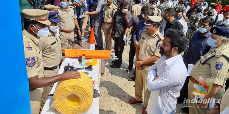 Pic Talk: Jr NTR attends Cyberabad traffic polices event