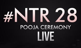 NTR28 Pooja Ceremony LIVE