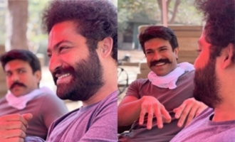 Pic Talk: Jr NTR, Ram Charan have a laugh while working on 'RRR'