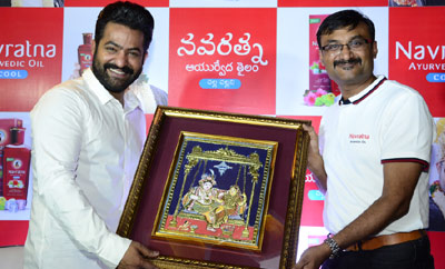 NTR at Navratna Ayurvedic Oil Cool Press Meet