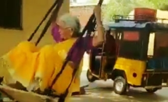 This 76-year old 'young lady' on swings video goes viral!
