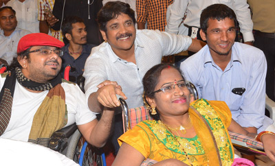 'Oopiri' Team Meets Physically Challenged People