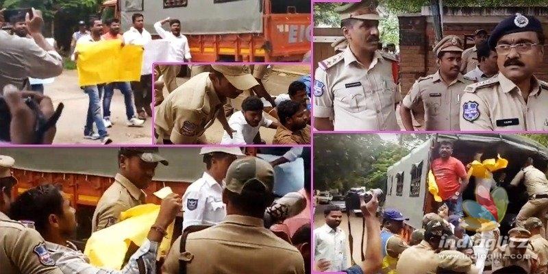 OU students surround Nags house, say Bigg Boss is anti-Telangana