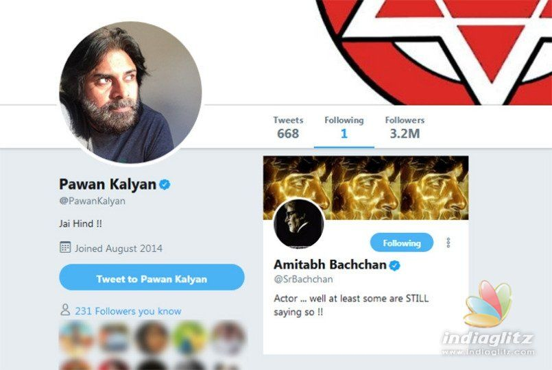 Pawan Kalyan follows first person on Twitter